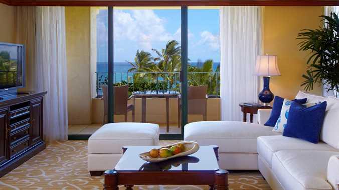 Kauai Grand Hyatt Luxury Vacation Hotel Ocean Suite Living Room