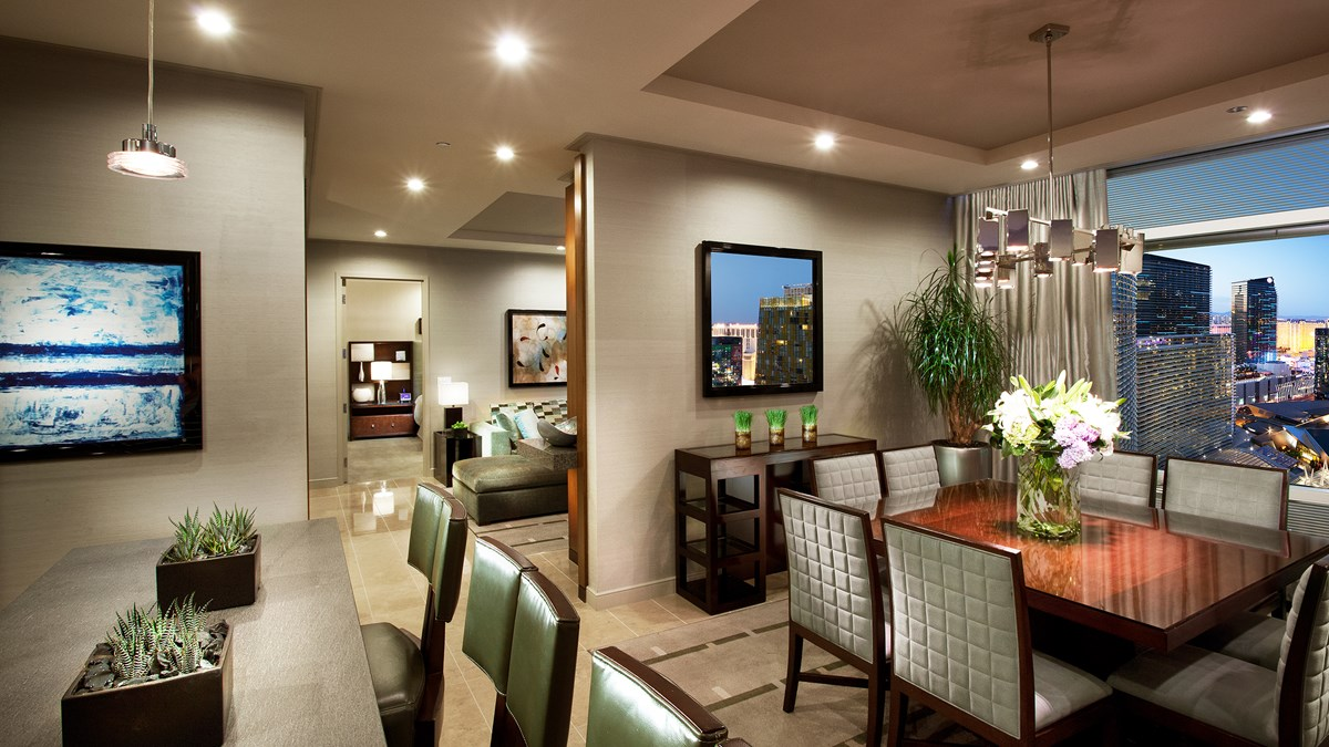 Aria two bedroom penthouse strip view suite - 2 bedroom penthouses in las vegas ...